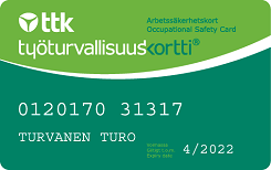 Työturvallisuuskortti - Occupational safety card
